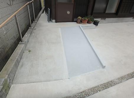 コンクリートスロープ拡張!!