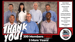 399 Members First, 3 More Years: THANK YOU!