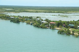 Saibai Island, Torres Strait at high tide (Photo by John Rainbird)
