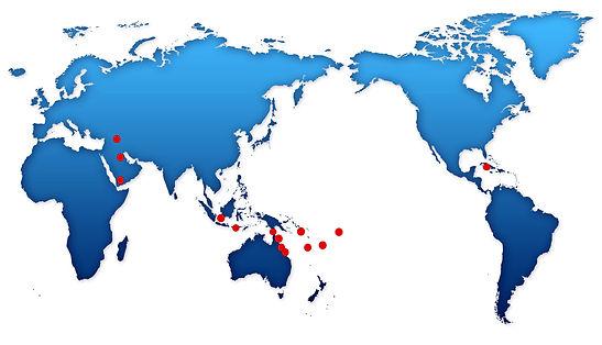 World map - global reach
