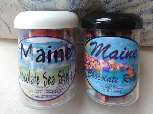 Maine Chocolate Sea Shells or Rocks