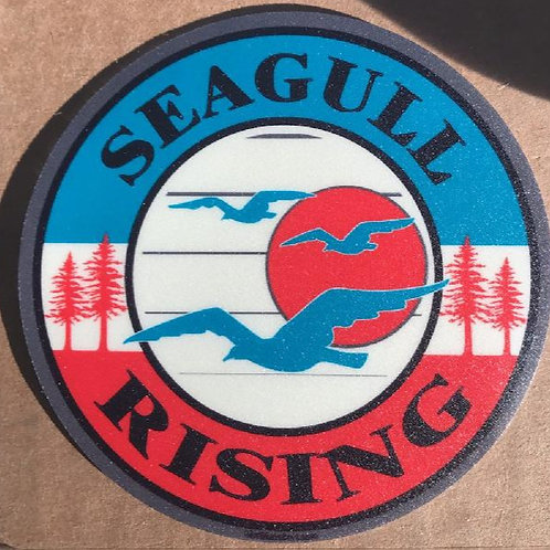 Seagull Rising Sticker - Free Shipping.