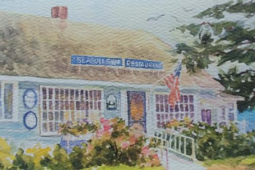 Original Sea Gull Shop Note Card - Free Shipping