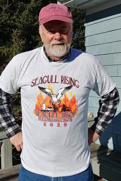 Seagull Rising Reconstuction Short Sleeved T-Shirt