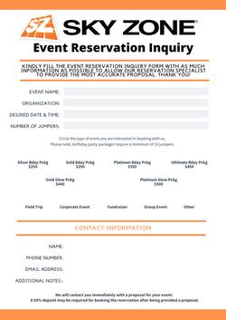 Event Inquiry Form