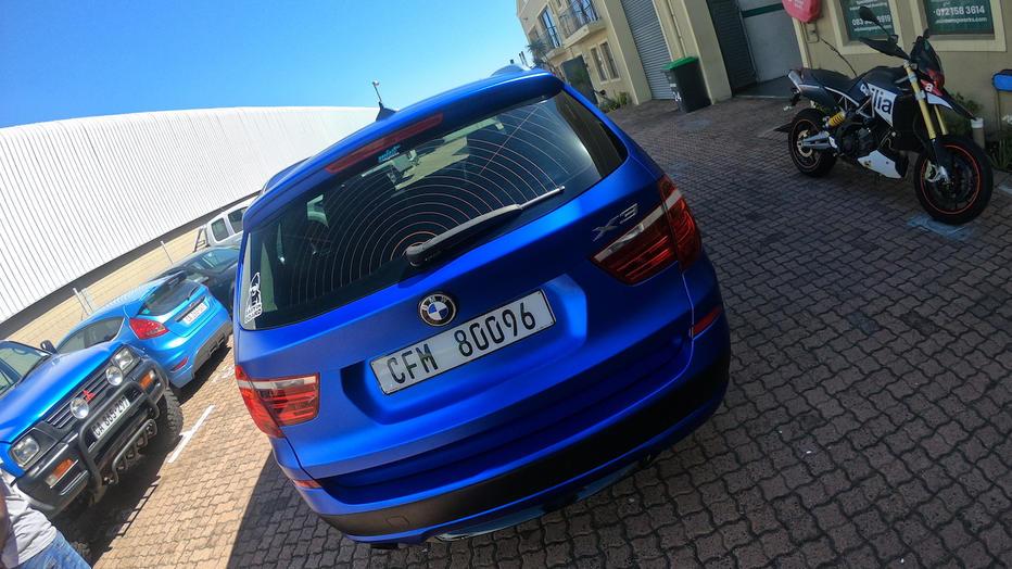 Satin Blue Chrome X3