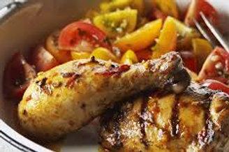 Cuisse de poulet à la portugaise, fricassée de légumes