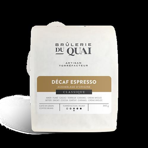 Café - DECAF ESPRESSO - Mouture en grains - 340 gr