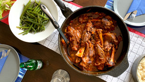 Lamb Shanks in Mixed Bean & Tomato Stew