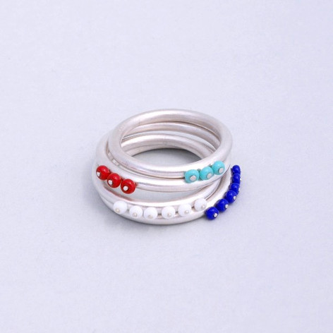 Silver Halo Rings
