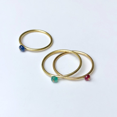 Tiny Bead Halo Rings