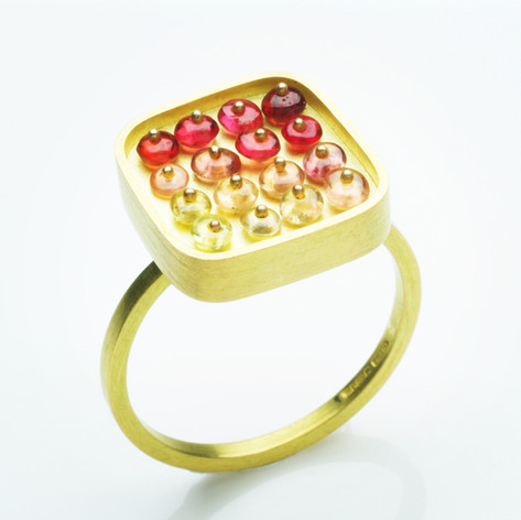 Red Grid Ring