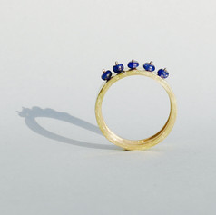 Band Ring with Sapphires
