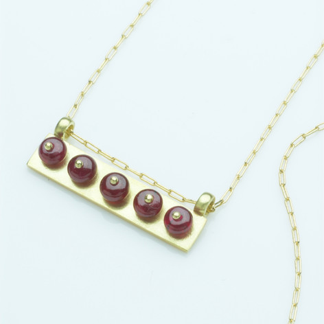 Red Bar Necklace