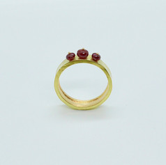 Band Ring with Rubies