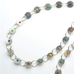 Disk and Hoop Necklace