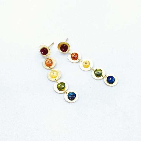 Rainbow Sapphire Drop Earrings