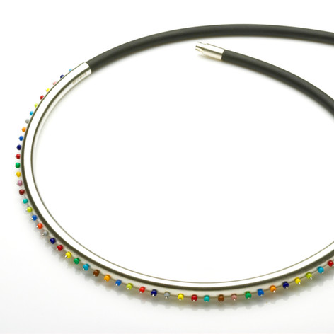 Multi-Coloured Line Necklace