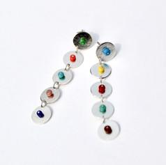 Disk Drop Earrings