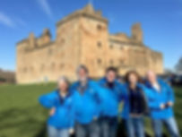 Our guides at Linlithgow - Laura Moon, Ian Deveney, Scott Guthrie, Caroline Keith and Paul Tomkins