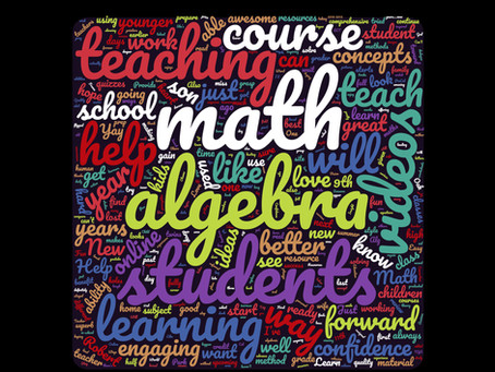 New Algebra course - 1 week away