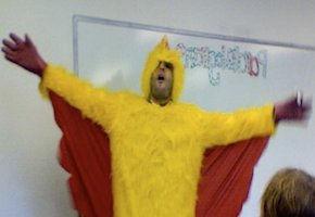 Math + Chicken = Mathemachicken.