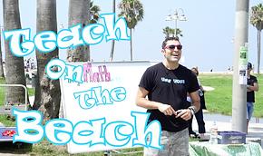 Teach on the Beach: math instruction as street performance art