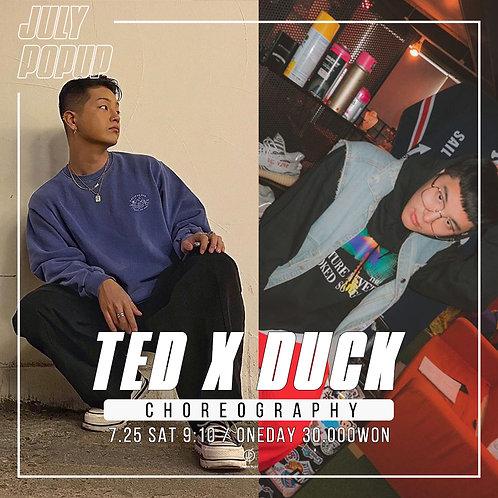 7/25 토요일 9:10 TED X DUCK  코레오
