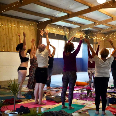 Yoga in the barn photo (c). primalembrace