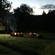 Chilling round the fire summer solstice 2019