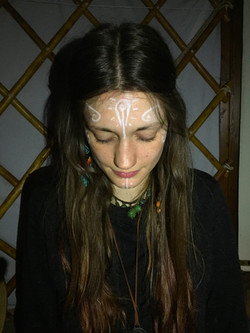 Face paint for full moon gathering