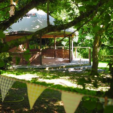 Forest yoga pagoda