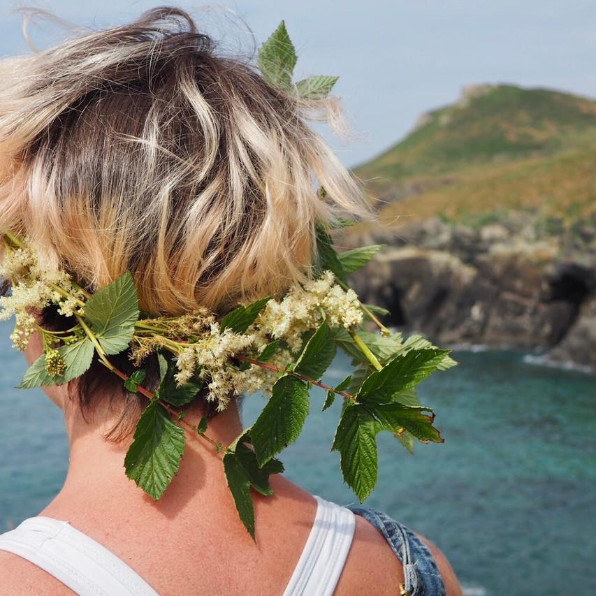 Flower crown ocean