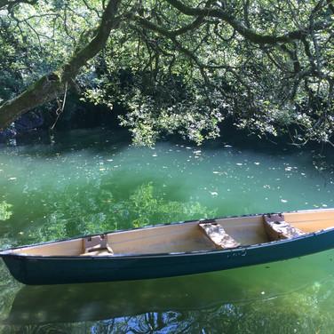 Canoe on the lake