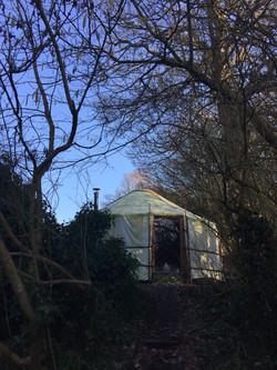 The yurt in winter