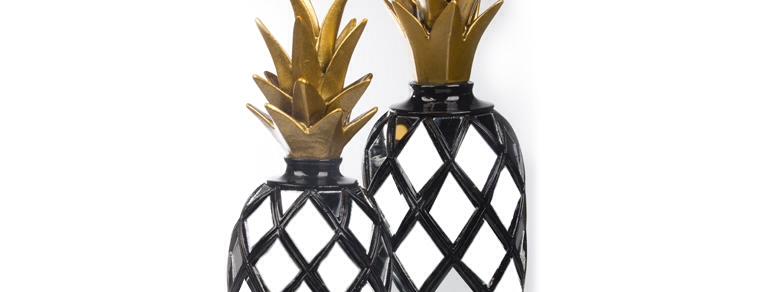 Aynalı Ananas Siyah FKANS889 Siyah