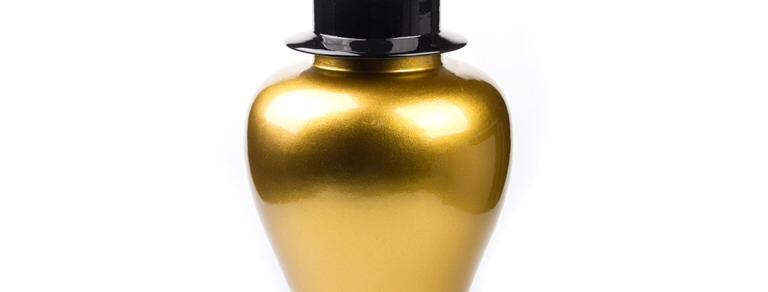 Küp Seti Siyah Küp Altın Kapak 3 'lü FKKP005-Gold-Black