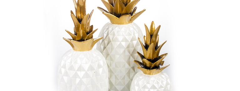 Ananas Seti 3 'lü Beyaz FKANS901-Beyaz