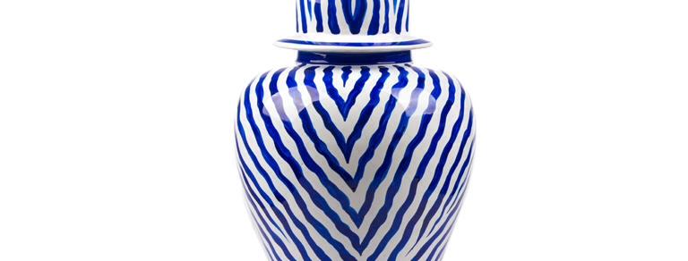 Küp Seti Zebra Desen Mavi 3'lü_FKKP019-Mavi
