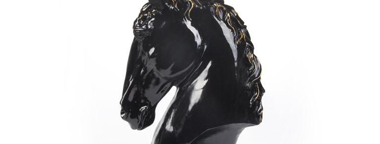 Altın Yeleli Siyah At Başı Seti FKATS05