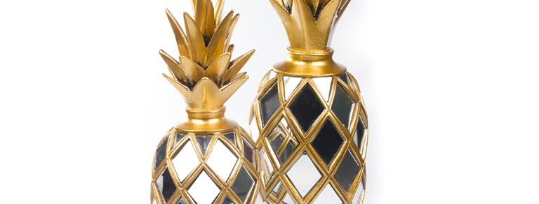 Aynalı Ananas Altın FKANS885-Altın