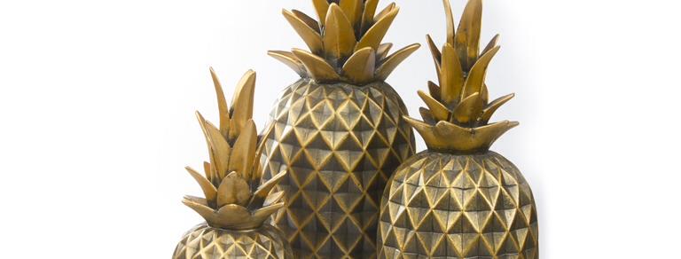 Ananas Seti 3 'lü Altın FKANS900-Altın