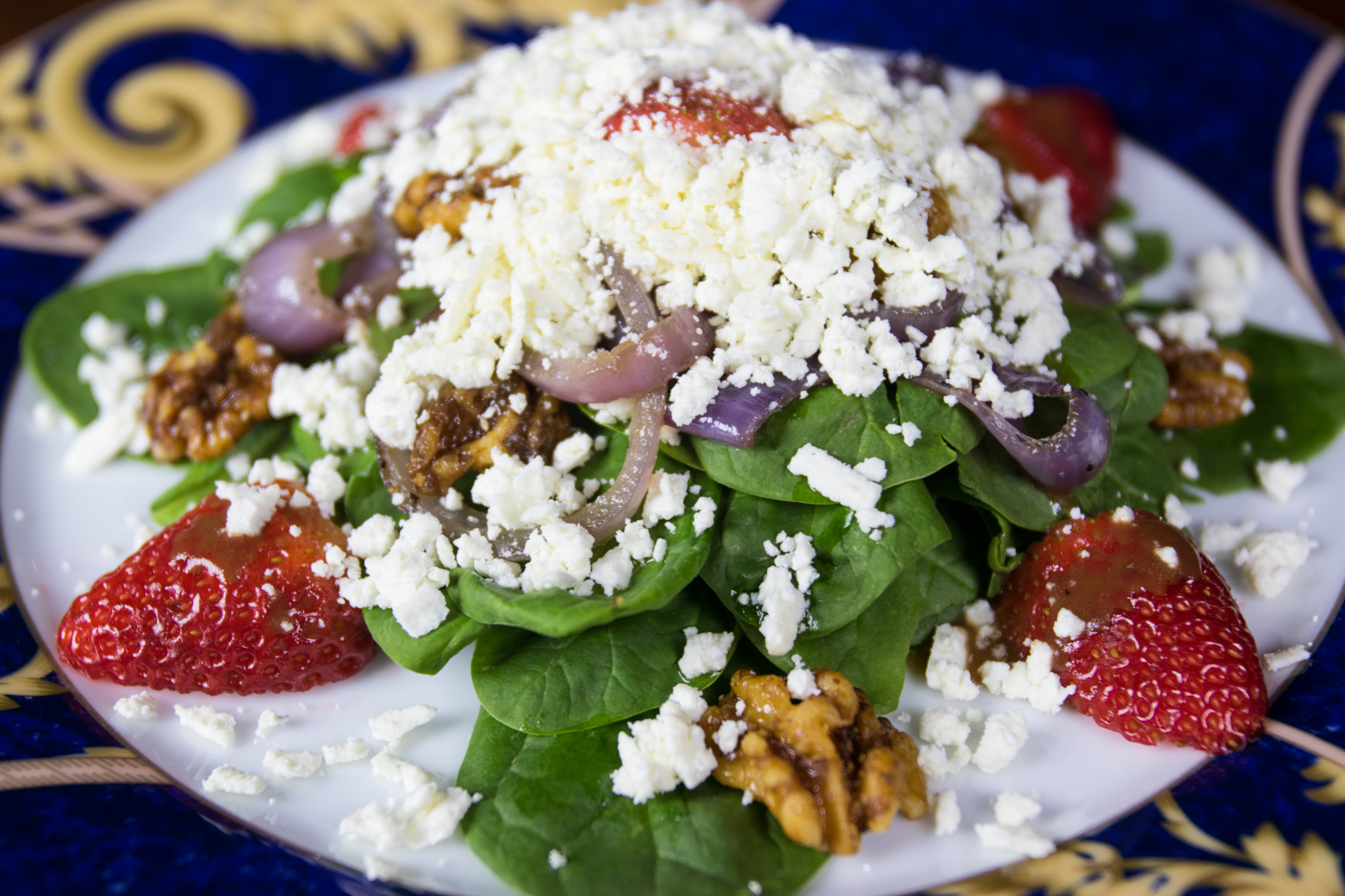 The Lodge Strawberry Spinach Salad