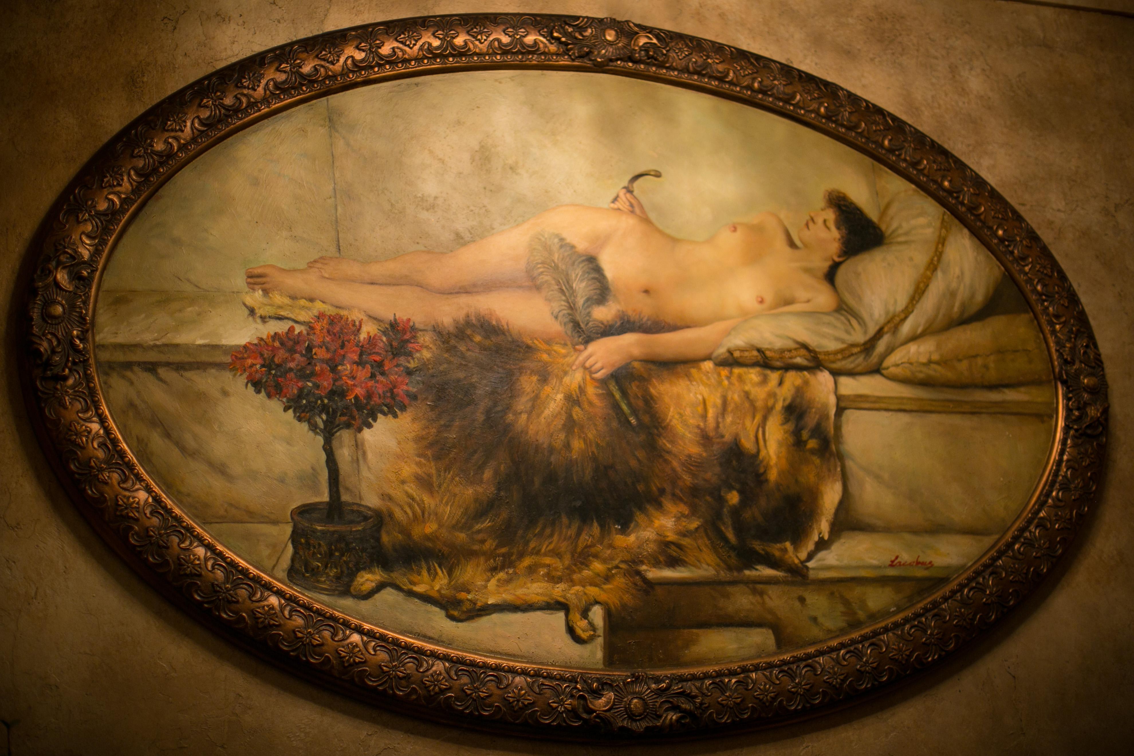 The Lodge Vintage Brothel Painting