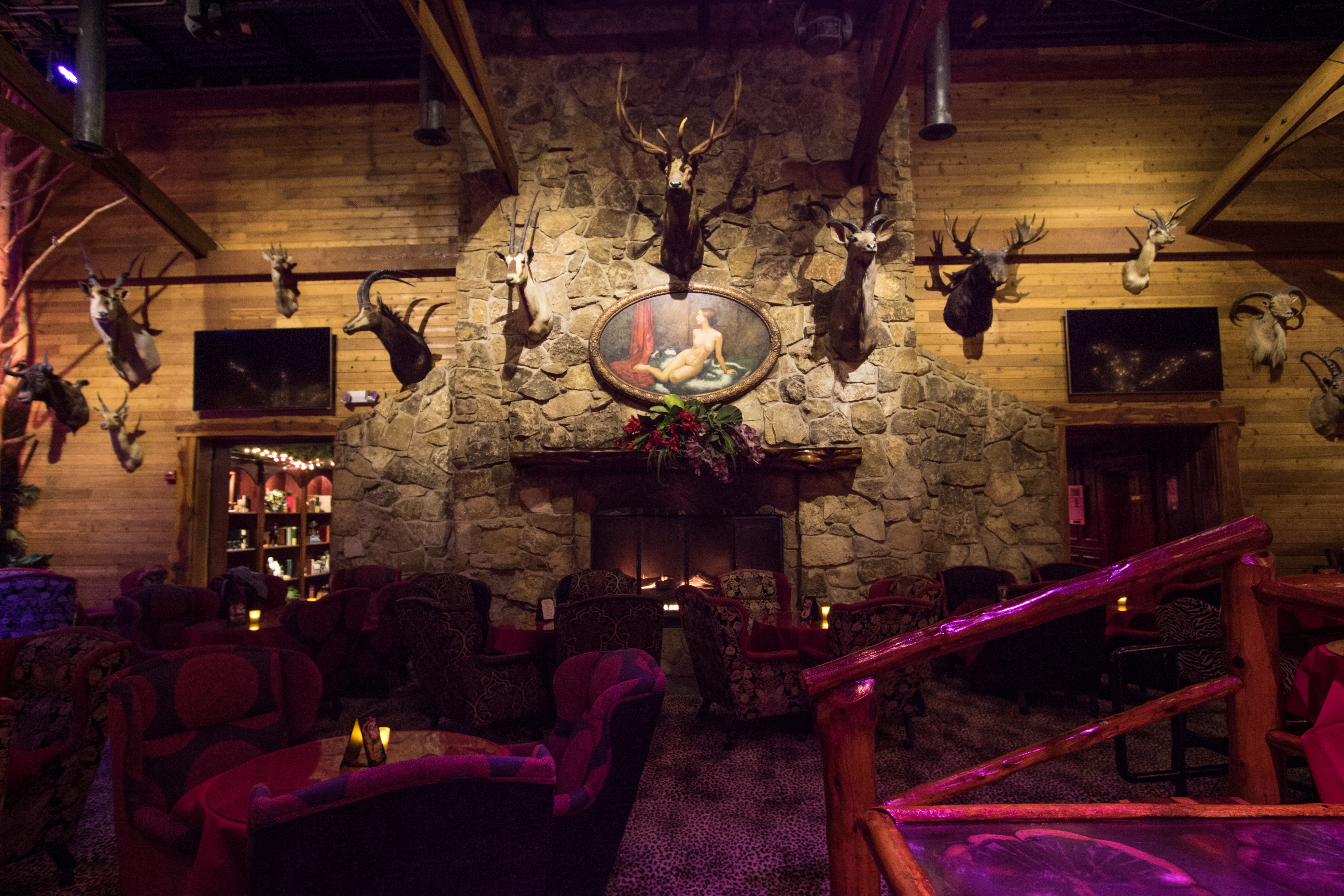 The Lodge Fireplace in Main Room