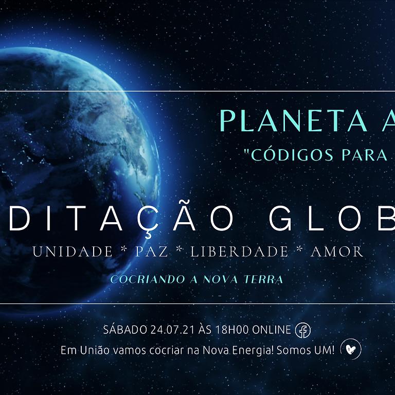 """MEDITAÇÃO GLOBAL """"Planeta Azul"""" Códigos para a Paz"""