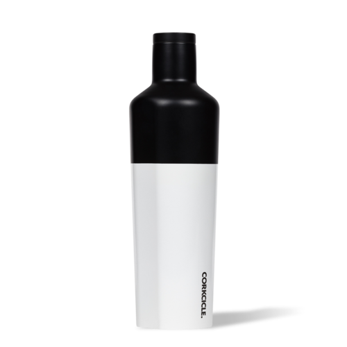 25oz Color Block Canteen Modern Black