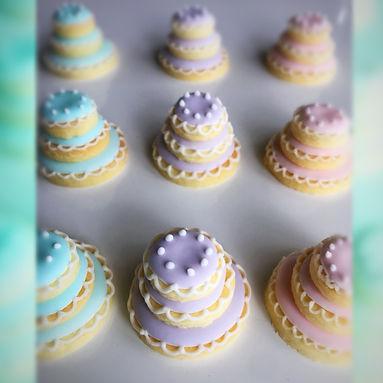 ウエディングケーキ アイシングクッキー