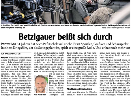 "German newspaper article about me and my role in ""The lost picture"" and more"
