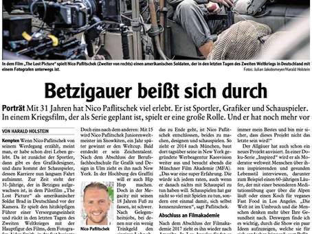 """German newspaper article about me and my role in """"The lost picture"""" and more"""